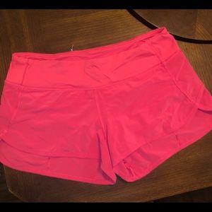 Coral lulu run speed shorts